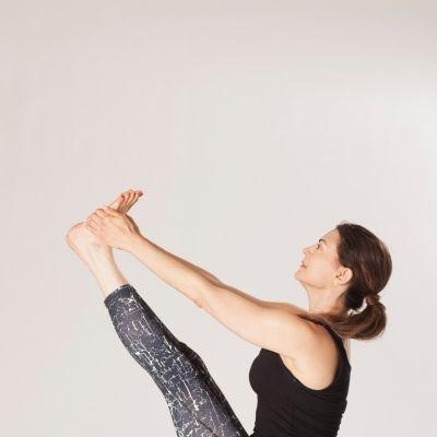 Rola yoga photo session in a studio
