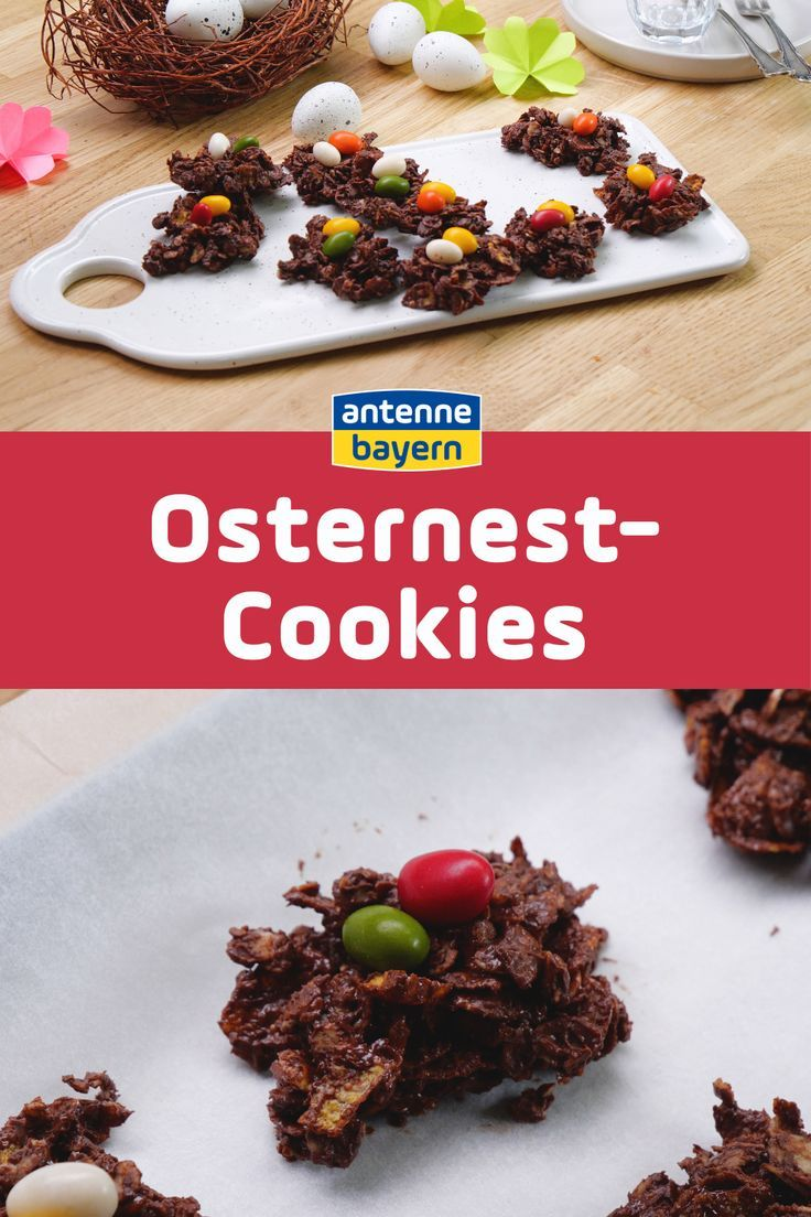 Osternest Cookies Ostern Schoko Crossies Rezept Und Ostern