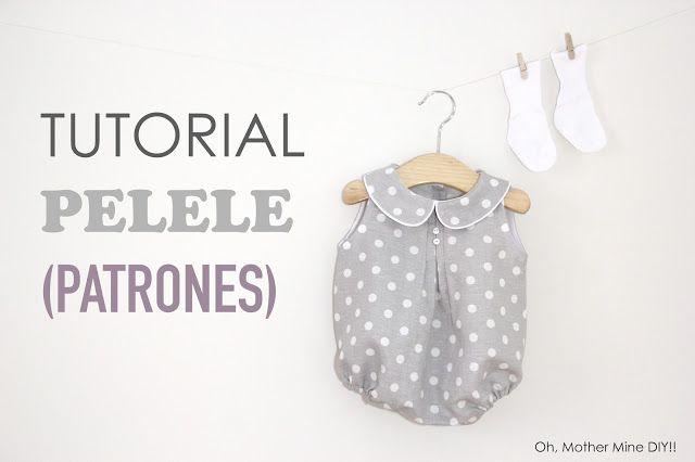 Tutorial y patrones: Pelele de lunares para bebe DIY  Descubre más sobre de los bebés en somosmamas.com.ar.