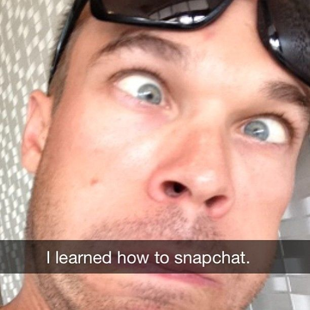 He knows how to take the perfect Snapchat. | 28 Reasons Nick Symmonds Is The Most Adorably Awesome Athlete Alive
