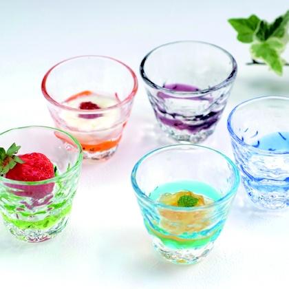 琉球ガラス(ティーダぐい呑み)