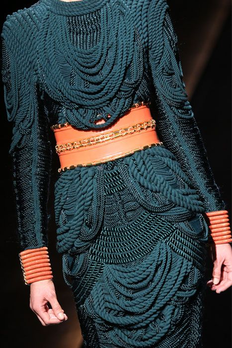 balmain textile assignment Balmain celebrated glam-rock with metallic, leather, silk charmeuse, rich hues, and extreme silhouettes inspired from the 1970's-1980's shoulders/hips were pronounced, flared sleeves complimented hourglass silhouettes and shimmering jewel tone pieces were expressed.