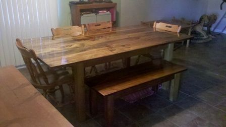 kitchen table made from pallets poplar dining table