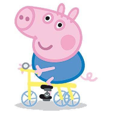 George Pig en Bicicleta