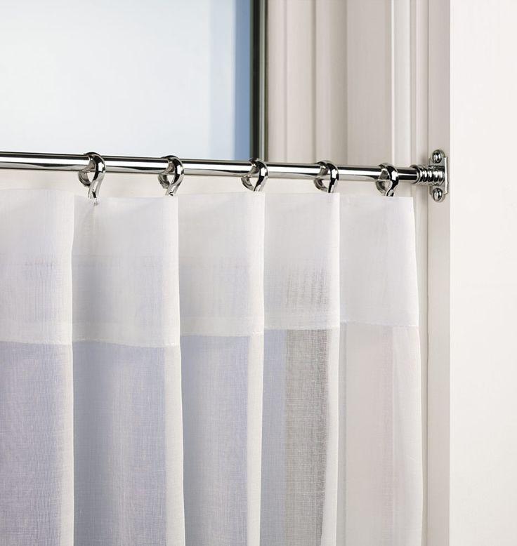 Inside Mount Cafe Rod Set | Rejuvenation For Kitchen Windows   Rejuvenation  Sells Café Curtains