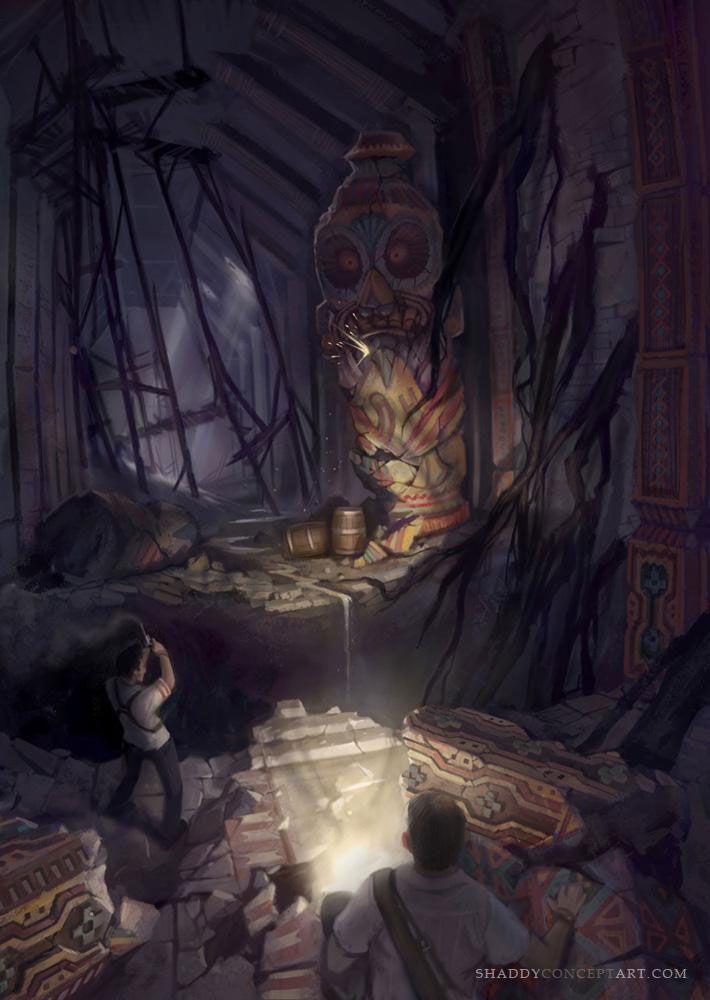 El Dorado Pillar Room from Uncharted: Drake's Fortune