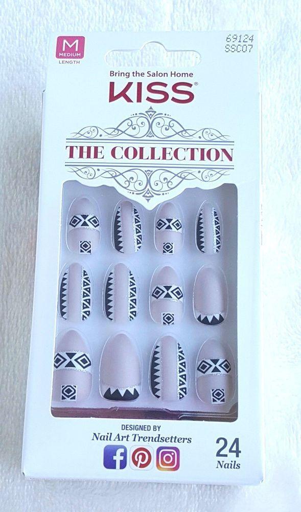 KISS 24 Glue/Press-On Nail The Collection MEDIUM #69124  #Kiss