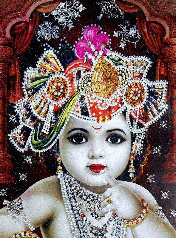 Cute little Krishna