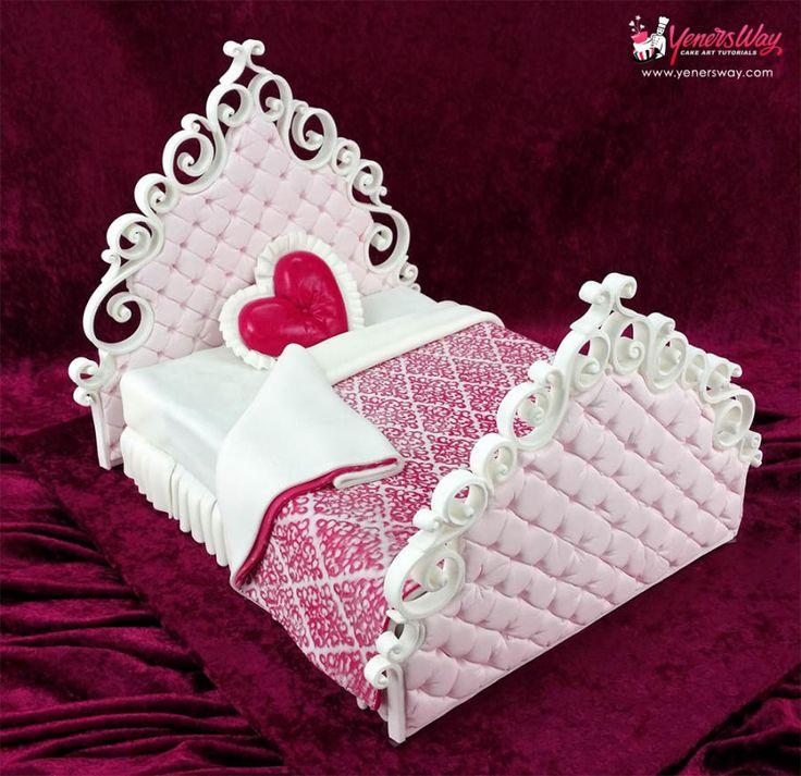 Valentines Bed Cake - Cake by Yeners Way - Cake Art Tutorials