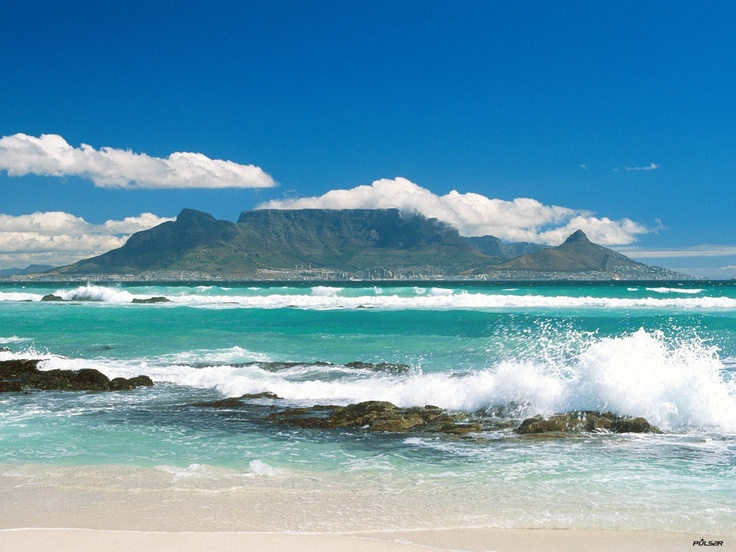 Table Mountain, Cape Town, South Africa --- view from Bloubergstrand