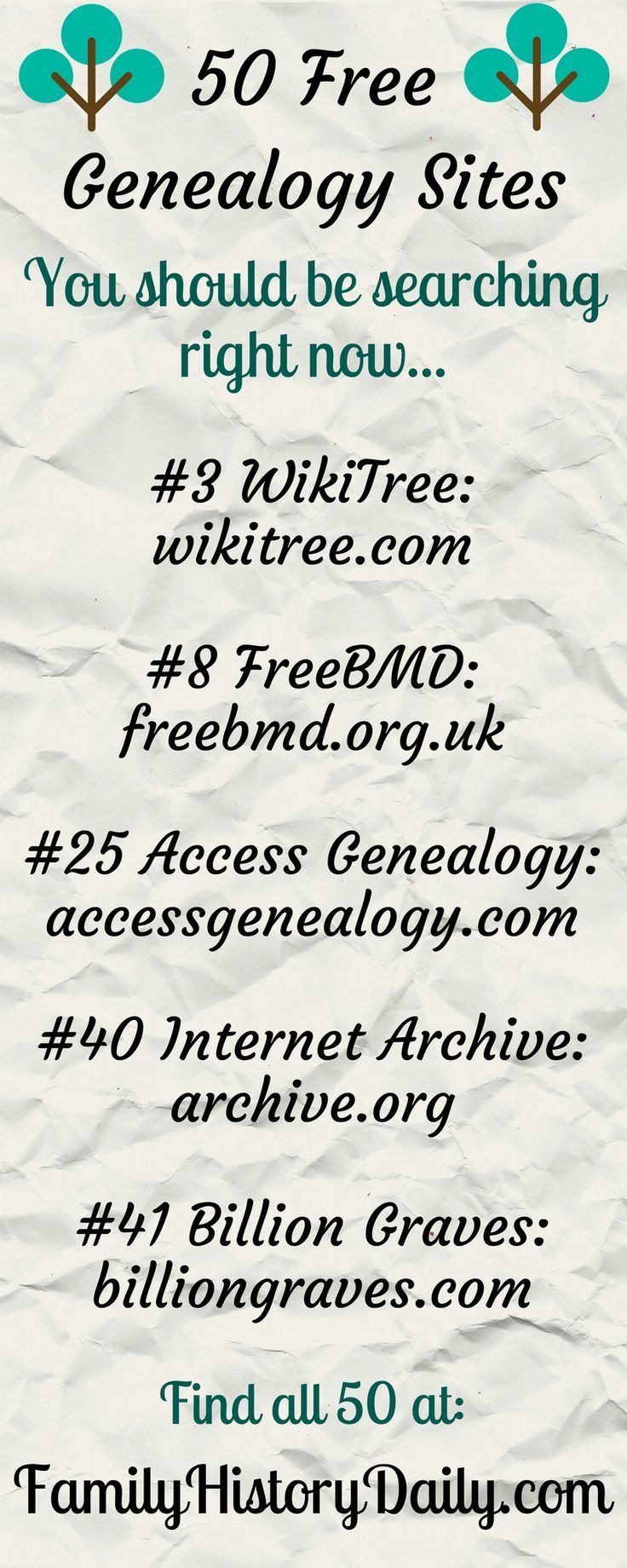 These 50 Free Genealogy Sites Will Take Your Family History Research To The Next Level.