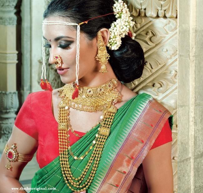 Marathi Bridal Makeup And Hairstyle : Maharashtrian bride indian bridal jewelry