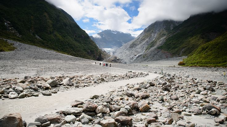 Path to Glacier - It's getting smaller than I was expected and differently smaller than last visit. Fox Glacier, South Island, New Zealand