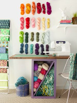 Cool idea for my crochet station