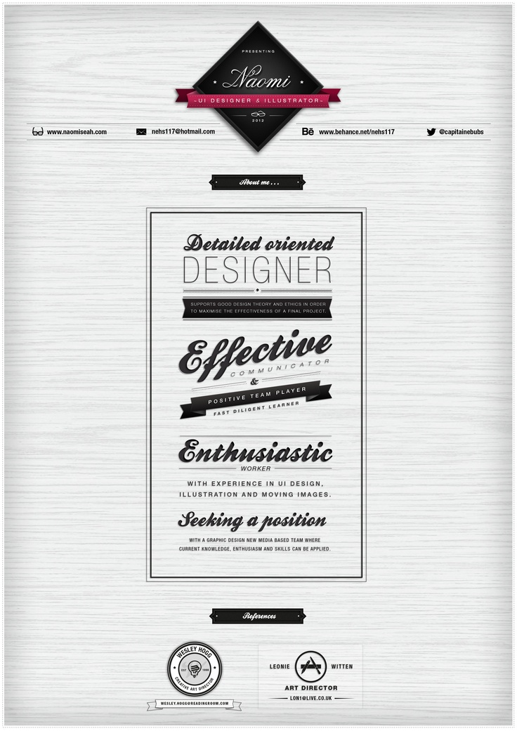 Some #design funzies with my CV. #Bespoke #layout with #current #trending #fonts used #typography and #whimsical #tone