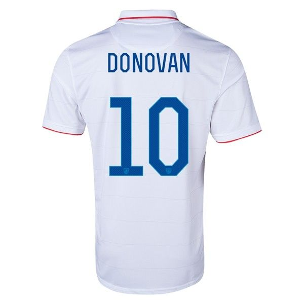 Special Price: $44.99  for USA 2014 DONOVAN #10 Home Soccer Jersey at http://www.ussoccerjerseyscheap.com/usa-2014-donovan-10-home-soccer-jersey.html