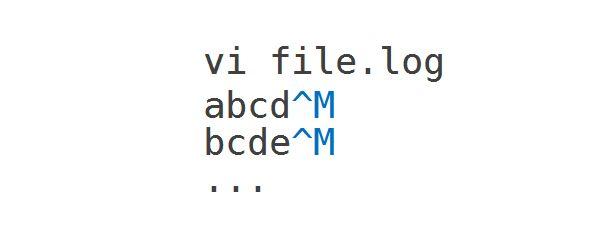 리눅스에서 간혹 ^M 개행 문자를 제거하고 싶을 때가 있습니다. 리눅스에서 Ctrl + v + m 클릭하면 위와 같은 문자가 표시되며 이렇게 입력해야 위의 문자를 찾을 수 있습니다. 키보드로 ^M 입력하면 단순 텍스트로 인식하여 원하는 결과를 얻을 수 없습니다. 그런데 스크립트를 작성한다면 오해의 소지도 있고 리눅스가 아닌 환경에서 잘못된 결과가 발생할 수 있습니다. 그럴 땐 ^M 대신 \015를 사용하세요. 그럼 이제 예제를 확인해보세요.