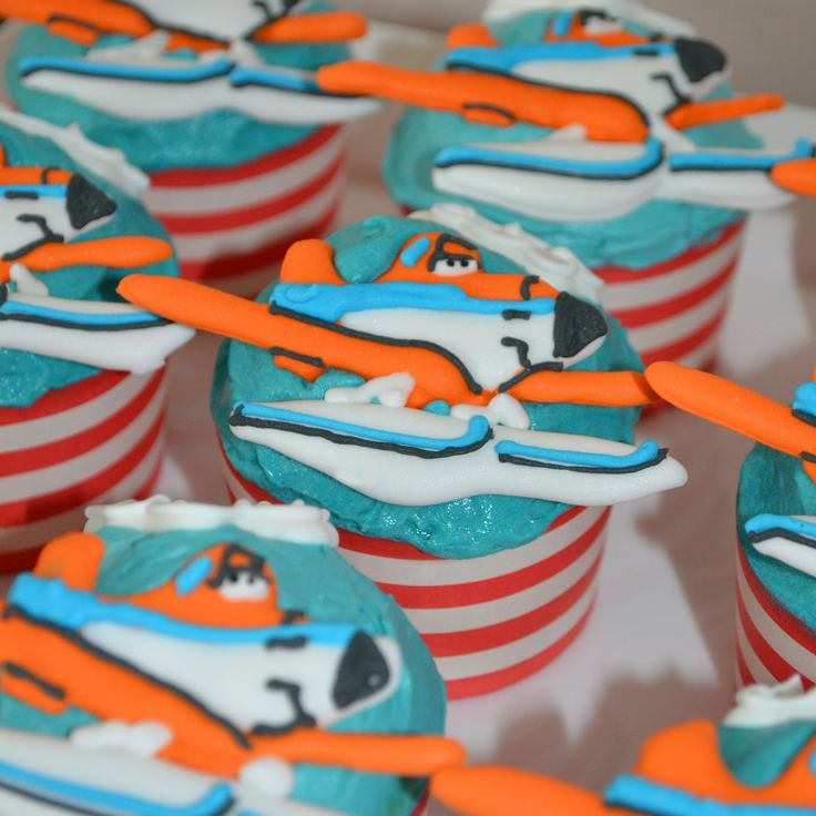Dusty Planes fire and rescue cupcakes