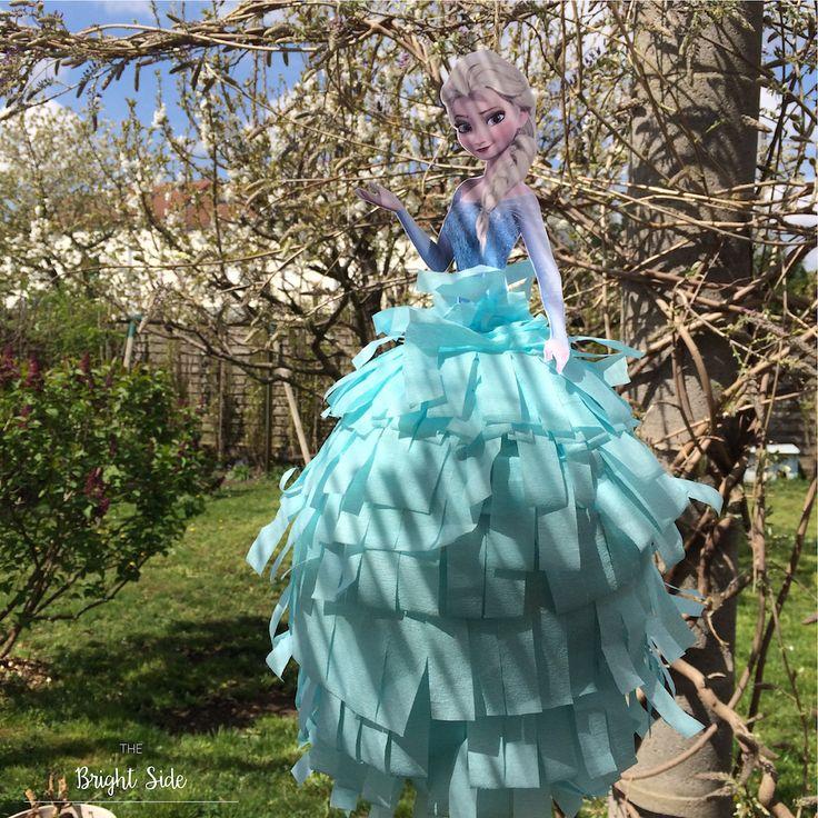 DIY Piñata Frozen Elsa Disney