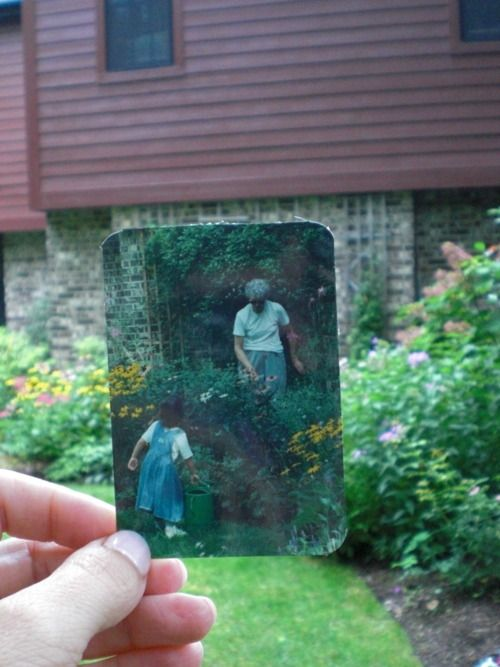 Dear Photograph,  This little girl is all grown up, and grandma is gone, but her garden still grows…  -Patricia
