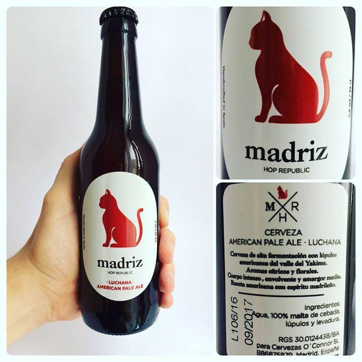 La Cerveza del Viernes: Luchana de @CervezasMadriz. Sabor generoso a malta a pan y algo dulce. Cuerpo medio. Bien de lúpulo y equilibrada refrescante.
