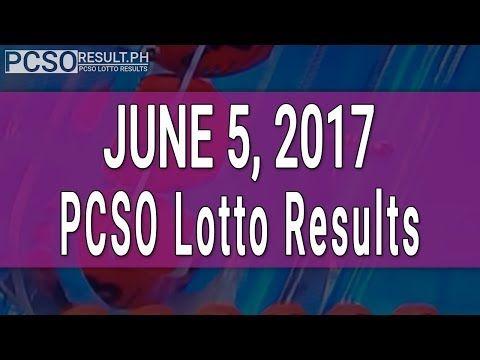 Lotto Result June 5, 2017 (6/55, 6/45, 4D, Swertres & EZ2) - (More info on: https://1-W-W.COM/lottery/lotto-result-june-5-2017-655-645-4d-swertres-ez2/)