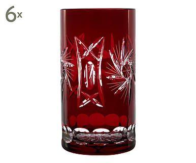 Handgefertigte Bleikristall-Longdrinkgläser Oxford, 6 Stück, 320 ml