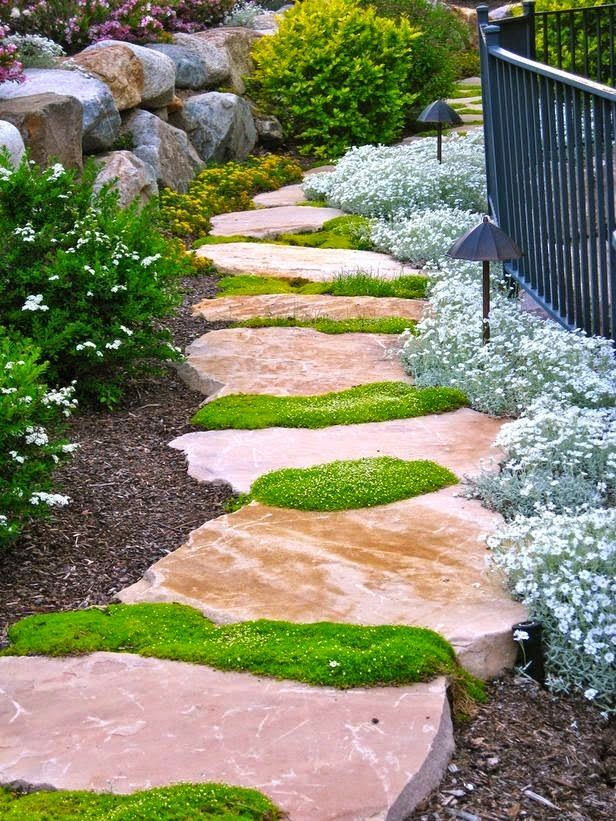 """Ideas for Creating the Perfect Path From the Board:  """"Borders Bridges Pathways Porches & Rockeries""""  QJ Happy Pinning!!! )0( ^I^"""