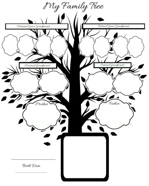 34 Best Family Tree Templates Images On Pinterest Family Tree