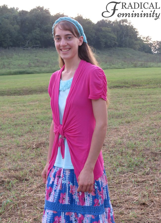 Modest Outfit By Ruthie - Hot Pinks, Bright Blues & Pretty Ruffles!