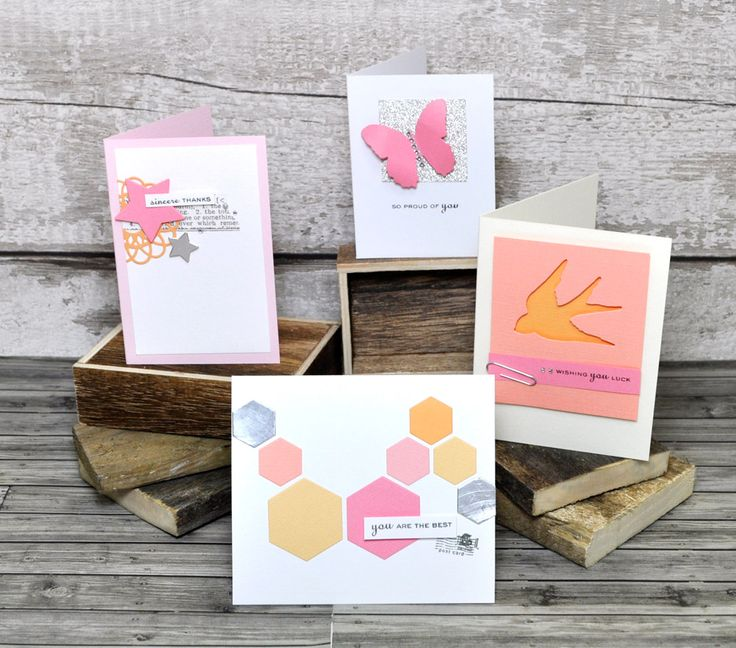 Create These Simple & Quick Cards For Any Celebration Using New Sizzix Mini Dies - cardmaking - DIY cardmaking - handmade cards