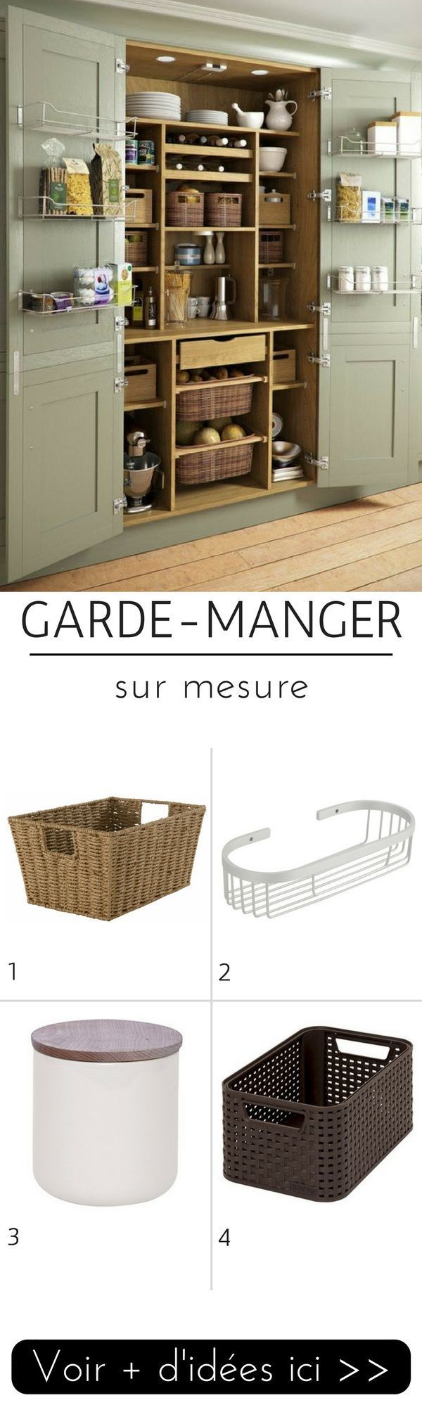 1000 id es sur le th me organisation de placard de garde manger sur pinterest cellier de garde. Black Bedroom Furniture Sets. Home Design Ideas