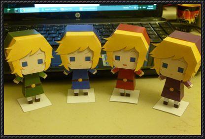 The Legend of Zelda: Four Swords Adventures - Links Free Paper Toys Download