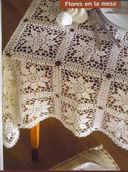 Croche maravilha de arte: Toalha de Mesa ... Manta ... com gráfico