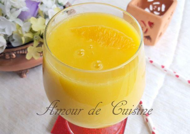 smoothie brule graisse ananas et mangue - Amour de cuisine