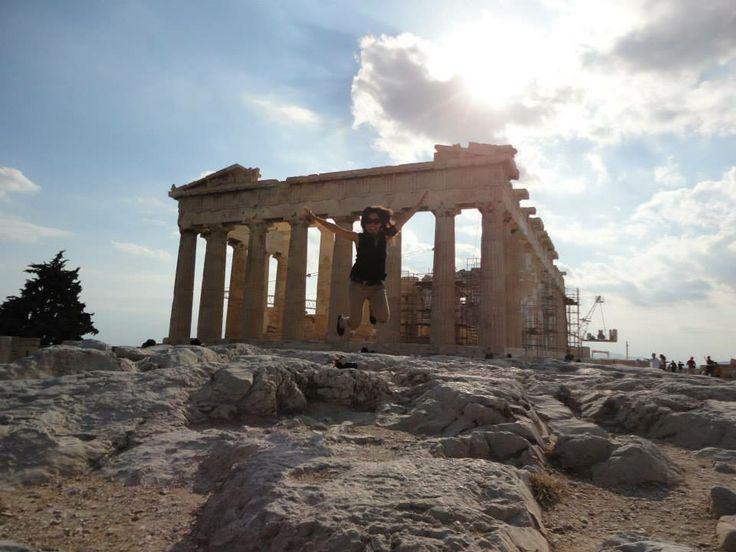 Partenón en el Acrópolis, en Atenas. País: Grecia.