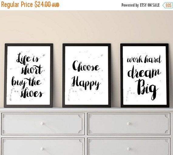30% OFF Set of 3 Prints, Small Prints, Inspirational Quotes, Positive Quotes, Quote Prints, Print Set, Last Minute, Christmas Gifts, Printab