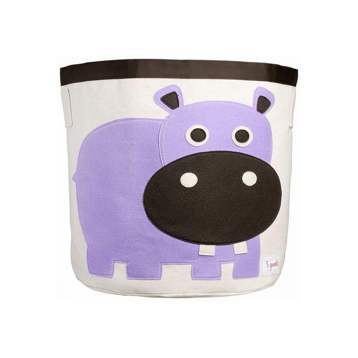 3 Sprouts Animal Storage Bin, Purple