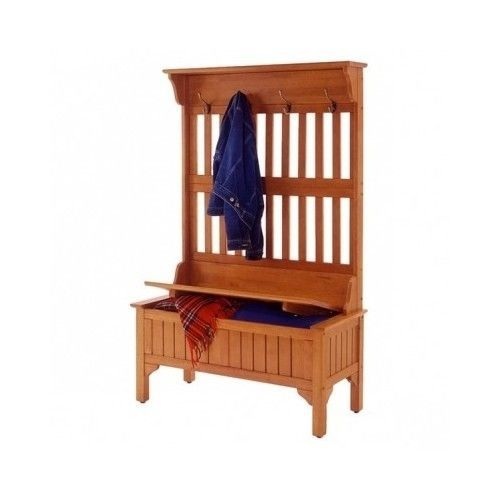 Oak-Hall-Tree-Entry-Bench-Storage-Entryway-Coat-Rack-Stand-Wood-Furniture-Room