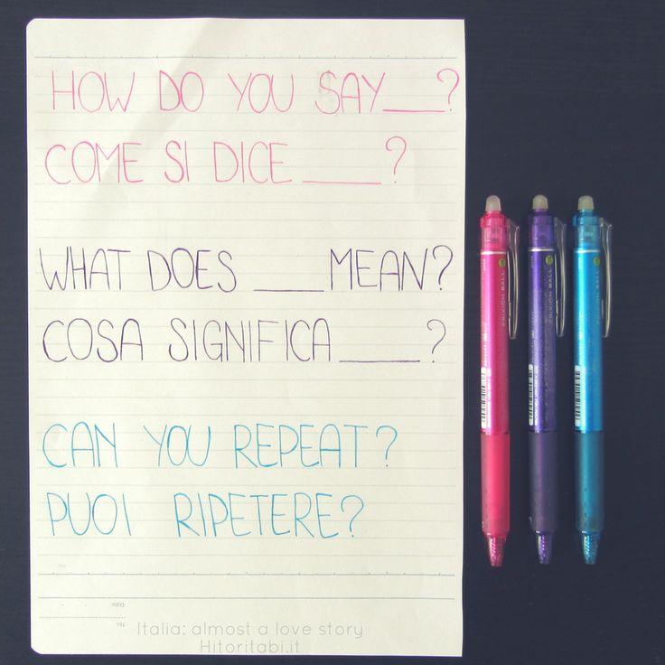 Come si dice? Cosa significa? Puoi ripetere? | Italian lesson | Learn Italian | Italian teacher | Italian online | Italian language