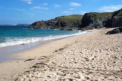 Beach at Mother Ivey's Bay, Cornwall
