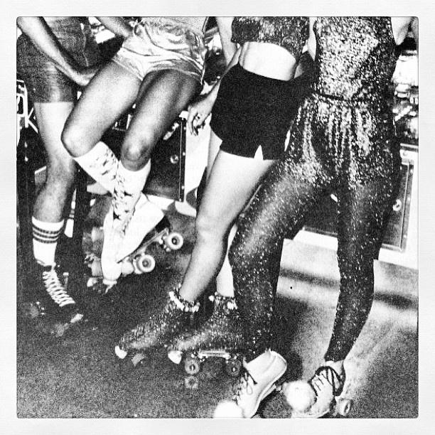 Roller skating disco fever 1970s!
