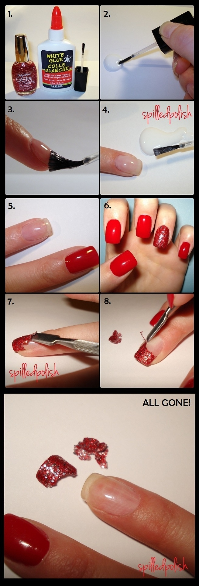 How to take off nail polish without ruining your nail !