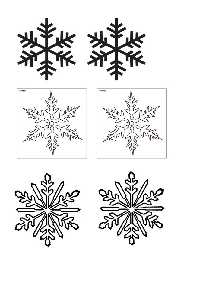 It is a picture of Mesmerizing Snowflakes Print Out