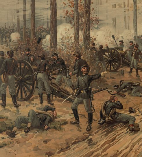 The bloody Battle of Shiloh during the Civil War.