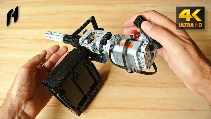 How to Build the Lego Technic Rotary Machine Gun (MOC - 4K)