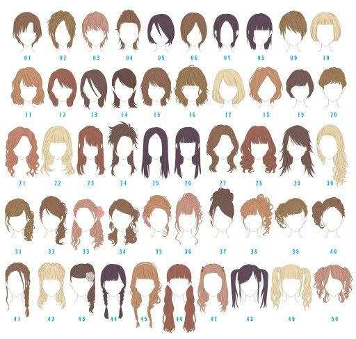Girl hair styles, because if there's one thing I struggle with it's deciding what hairstyle to draw xD