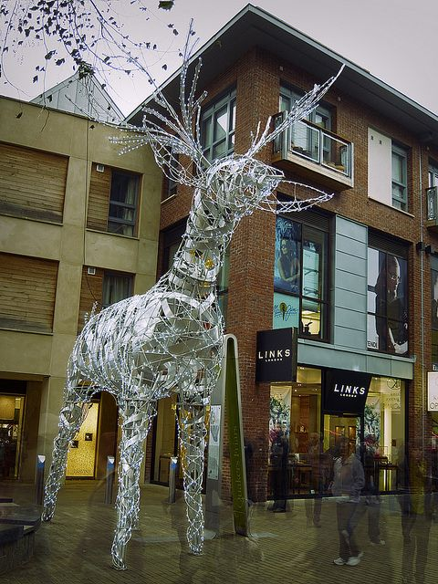 Urban Reindeer, Cabot Circus Shopping Centre, Bristol, England