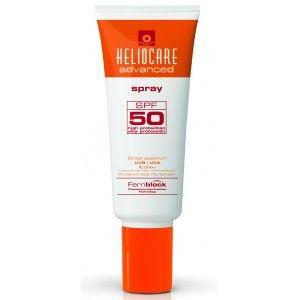 Heliocare Advanced Spray SPF 50 , fotoimunoproteção elevada contra os raios UVB e UVA, com propriedades antioxidantes e reparadoras adicionais devidas ao Extrato de  Polypodium leucotomos.