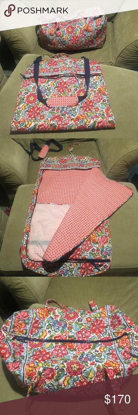 Vera Bradley Garment Bag and Large Duffel EEUC garment bag and duffel. Hope Garden print. Vera Bradley Bags Travel Bags
